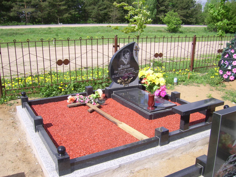 Оформление могилы своими руками фото 841